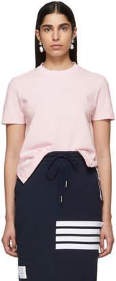 Thom Browne Pink Pique Stripe T-Shirt