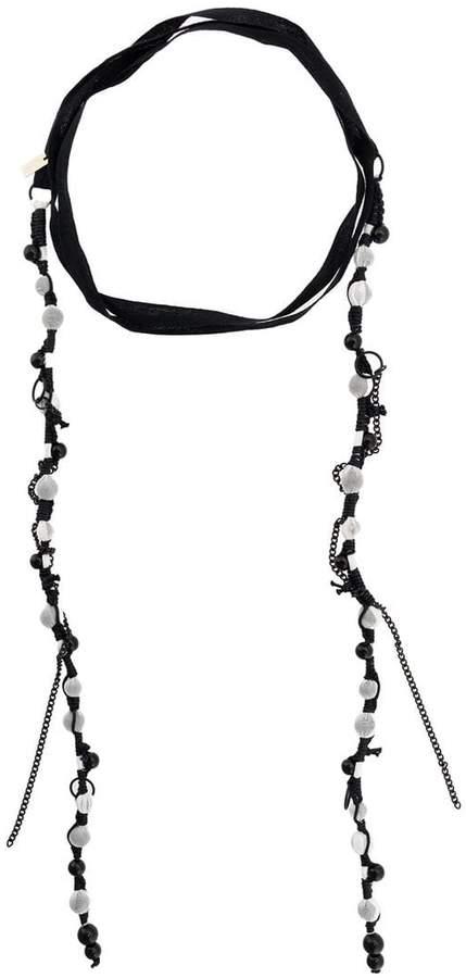 beaded wrap-around necklace
