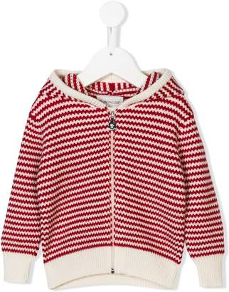 Moncler embroidered hooded sweater