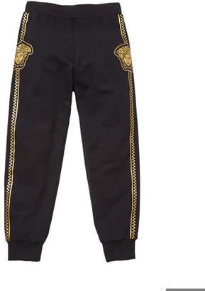 Versace Boy's Sweatpants w/ Check Medusa Sides, Size 8-14