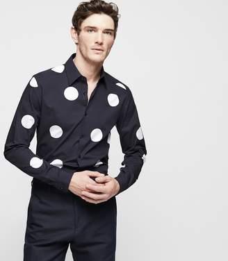 Reiss Monmart Polka-Dot Printed Shirt