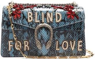 Dionysus embellished snakeskin shoulder bag