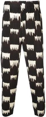Issey Miyake Homme Plissé Wild Check trousers