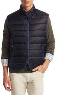 Saks Fifth Avenue COLLECTION Quilted Zippered Vest