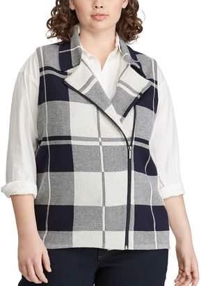 Chaps Plus Size Plaid Vest