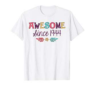 Awesome Since 1944 T-Shirt 75th Birthday Gift Shirt
