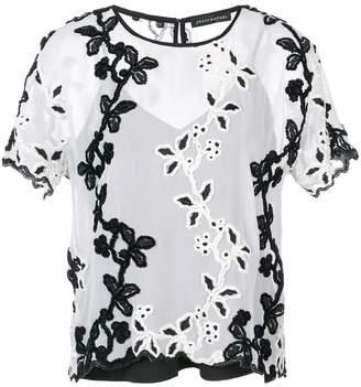 Natori embroidered T-shirt
