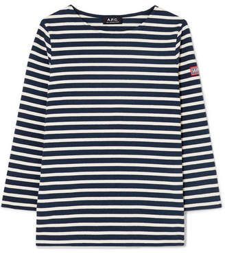 A.P.C. Niki Striped Cotton Top - Navy
