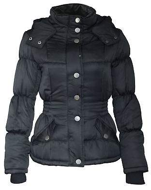 Lee Cooper Womens Padded Hooded Jacket Coat Top