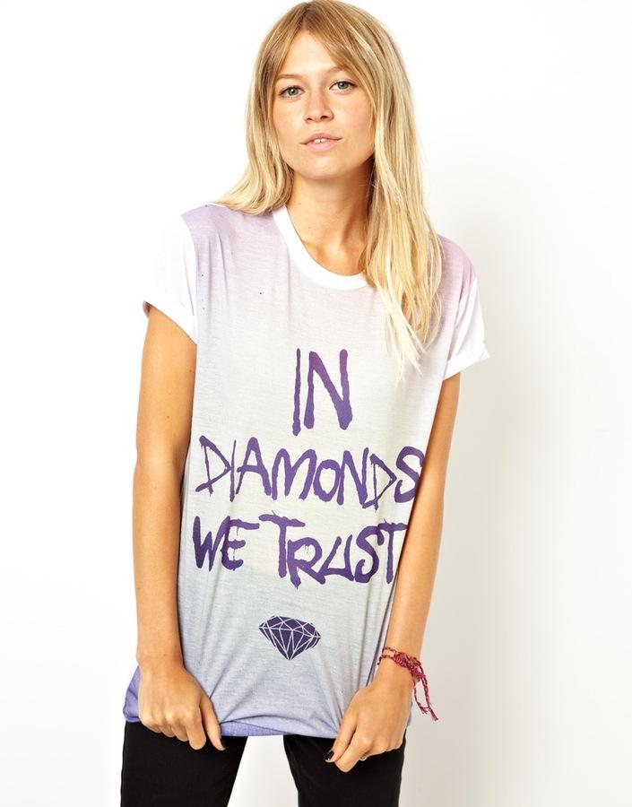 Asos T-Shirt with In Diamonds We Trust Print