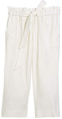 Milly Minis Kori Linen-Stretch Crepe Pant, Size 8-14