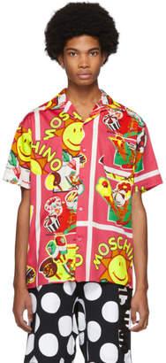 Moschino Pink Ice Cream Print Shirt