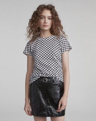 Rag & Bone Check print tee