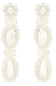 Simone Rocha Faux pearl drop earrings