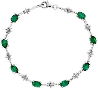 Sterling Semi-Precious Gemstone & Beaded Bracelet