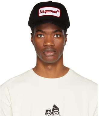 DSQUARED2 Black Logo Patch Cap