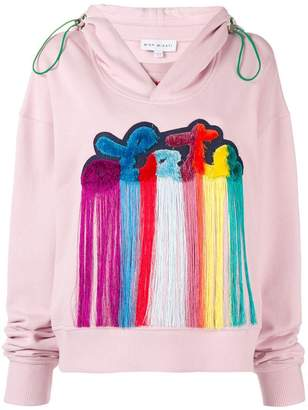 Mira Mikati Late patch hooded sweatshirt