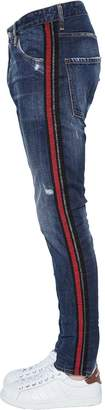DSQUARED2 16.5cm Classic Kenny Stripes Denim Jeans