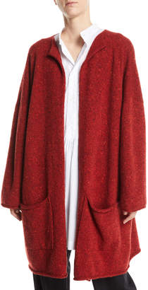 eskandar Open-Front Wool-Cashmere Cardigan