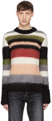 Saint Laurent Multicolor Striped Mohair Sweater
