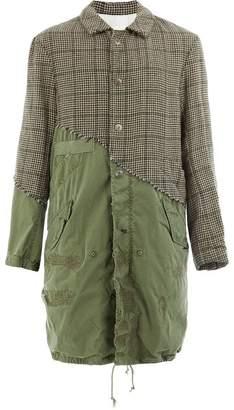 Greg Lauren London houndstooth fishtail parka coat