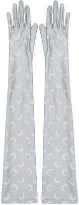 Marine Serre Grey Long Jersey Gloves