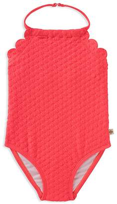 Kate Spade Girls' Scalloped Textured Swimsuit - Baby