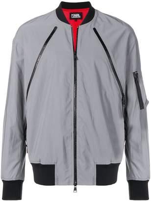 Karl Lagerfeld reflective bomber jacket