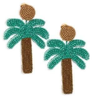 Kenneth Jay Lane Palm Tree Bead Clip-On Earrings