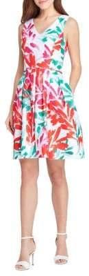 Tahari Arthur S. Levine Printed Fit-&-Flare Dress