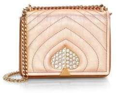 Kate Spade Women's Small Amelia Jeweled Metallic-Leather Quilted Crossbody Bag - Gold