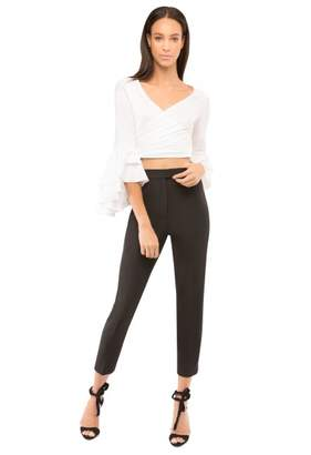 Milly Stretch Crepe High Waisted Pant