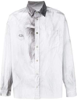 424 Charcoal Detailed Shirt