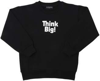 Balenciaga Think Big Printed Cotton Sweatshirt