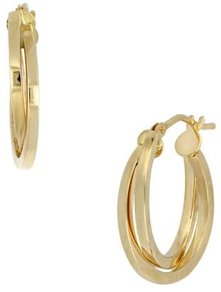 Bony Levy 14K Yellow Gold Interlocked 18mm Hoop Earrings