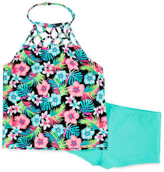 Arizona Girls Floral Tankini Set - Girls' 4-16