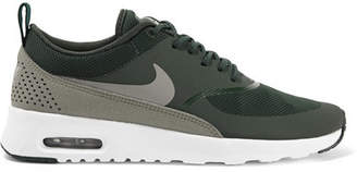 Nike Air Max Thea Croc-effect Leather-trimmed Mesh Sneakers - Emerald