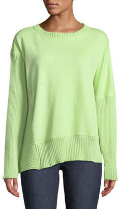 Neon Buddha South Beach Pullover Sweater w/ Asymmetric Hem