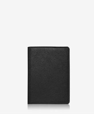 GiGi New York 7 Wire-O-Notebook In Black Goatskin Leather