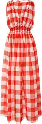 Ermanno Scervino Sleeveless Checkered Dress