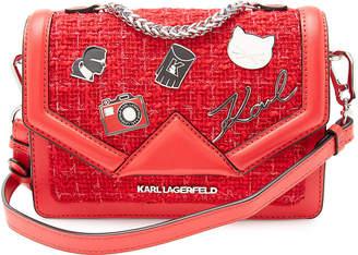 f197908f1a0e Karl Lagerfeld Paris K Klassik Leather Crossbody Bag with Embellishment