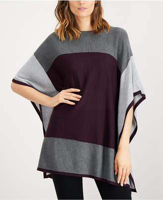 Calvin Klein Colorblocked Poncho Sweater