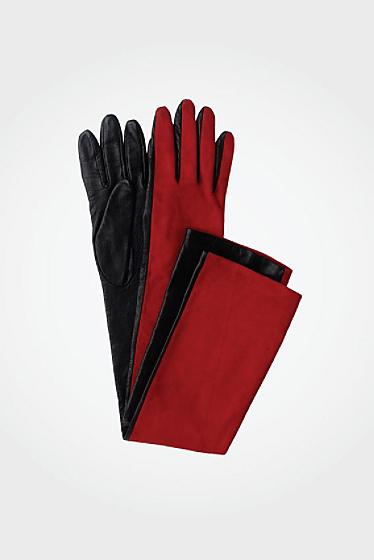 Diane von Furstenberg Opera Glove In Red/black