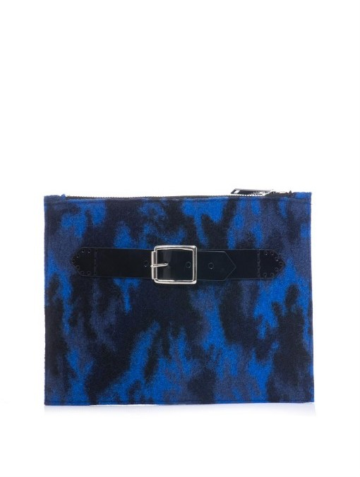 Christopher Kane Front strap camouflage clutch