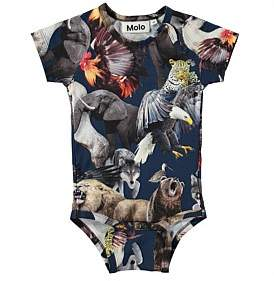 """Molo National Animals"""" Baby Boy Romper (3Months-2Years)"""