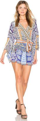 Camilla Kimono Sleeve Romper in Blue $550 thestylecure.com