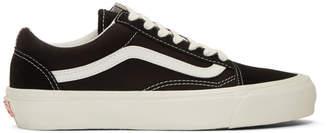 Vans Black and Off-White OG Old Skool LX Sneakers