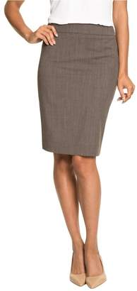 Le Château Women's Wool Blend Peplum Pencil Skirt