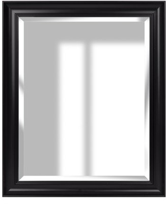 "Blackwash Woodgrain Framed Beveled Wall Accent Mirror 16""x20"" by Gallery Solutions"