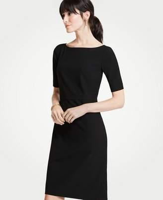 Ann Taylor Seasonless Stretch Elbow Sleeve Sheath Dress
